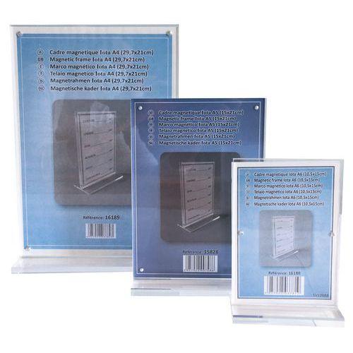 Cadre photo ou porte affichette magnétique en forme T - Manutan